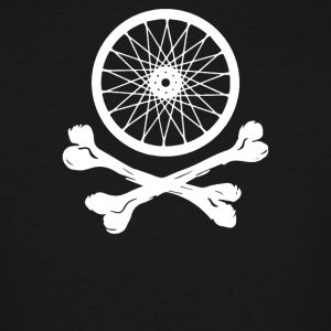 Bicycle Wheel Cross Bones - Men's Tall T-Shirt