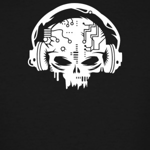 Cyber Skull With Headphones - Men's Tall T-Shirt