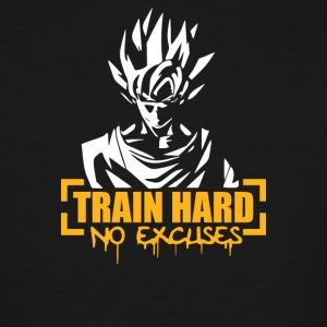 Goku Train Hard No Excuses - Men's Tall T-Shirt