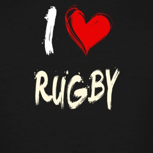 I love RUGBY - Men's Tall T-Shirt