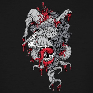 zombie ape with axe on head - Men's Tall T-Shirt