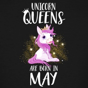 UNICORN QUEENS ARE BORN IN MAY - Men's Tall T-Shirt
