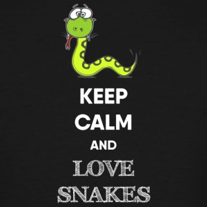 KEEP CALM AND LOVE SNAKES - Men's Tall T-Shirt