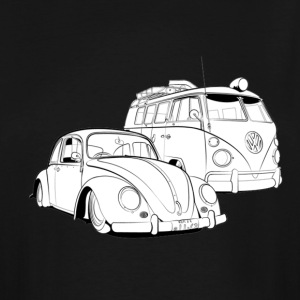 Oldshool Beetle and Bus - Men's Tall T-Shirt