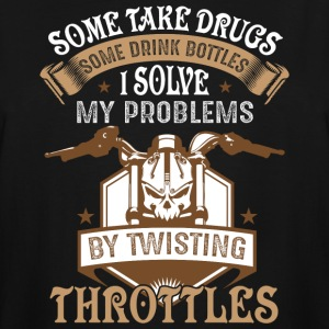 I Solve My Problems By Twisting Throttles T Shirt - Men's Tall T-Shirt