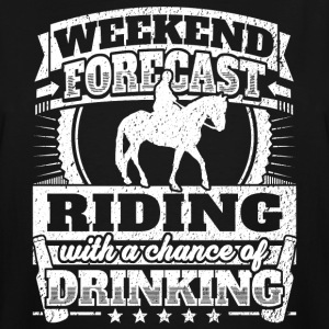 Weekend Forecast Riding Drinking Tee - Men's Tall T-Shirt