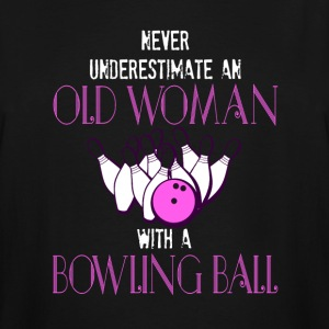 Old Woman With A Bowling Ball T Shirt - Men's Tall T-Shirt