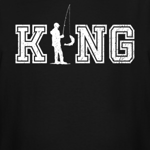 King of Fishing graphic angler shirt - Men's Tall T-Shirt
