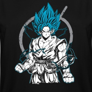 dragon ball super saiyan goku god blue t shirt - Men's Tall T-Shirt