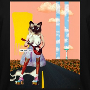 Sexy Cat Playing Ukulele W/ Background-HEW THE JEW - Men's Tall T-Shirt