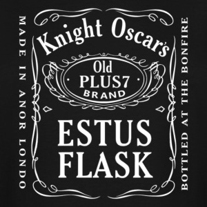 Knight Oscar's Estus Flask Label Design - Men's Tall T-Shirt