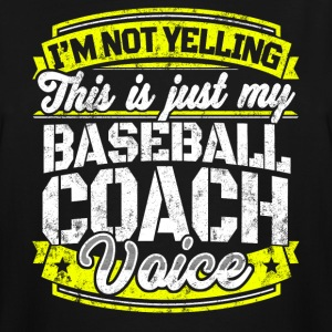 Funny Baseball coach: My Baseball Coach Voice - Men's Tall T-Shirt