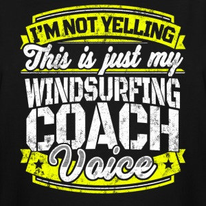 Funny windsurfing coach My Windsurfing Coach Voice - Men's Tall T-Shirt