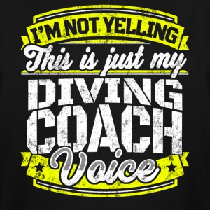 Funny Diving coach: My Diving Coach Voice - Men's Tall T-Shirt
