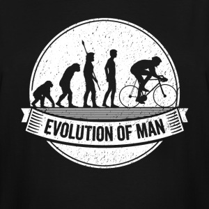 Funny Biker Graphic Cyclist Evolution Bicycle Tee - Men's Tall T-Shirt