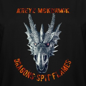 Dragon Spit Flames - Men's Tall T-Shirt