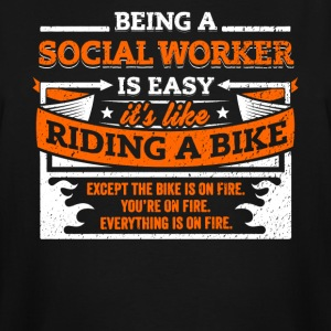 Social Worker Shirt: Being A Social Worker Is Easy - Men's Tall T-Shirt