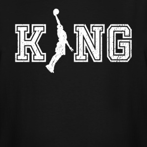 King of bball graphic basketball shirt - Men's Tall T-Shirt