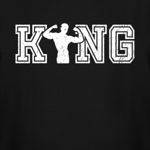 King of Bodybuilding graphic bodybuilder shirt - Men's Tall T-Shirt