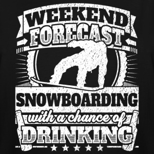 Weekend Forecast Snowboarding Drinking Tee - Men's Tall T-Shirt