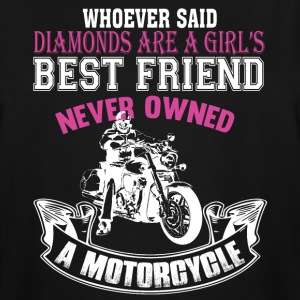 Girl's Best Friend Never Owned A Motorcycle TShirt - Men's Tall T-Shirt