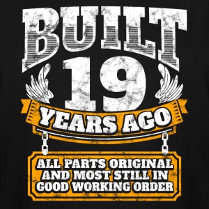 19th birthday gift idea: Built 19 years ago Shirt - Men's Tall T-Shirt