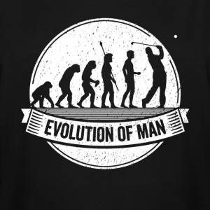 Funny Golfer: Graphic Golf Evolution Golfing Shirt - Men's Tall T-Shirt