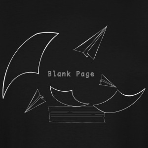 Blank Page Papers Flying - Men's Tall T-Shirt