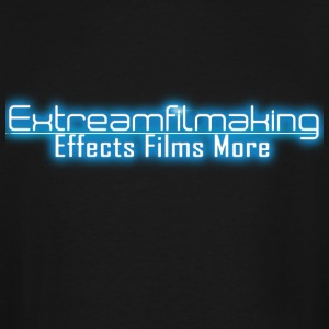 Extreamfilmaking Blue Glow Logo - Men's Tall T-Shirt