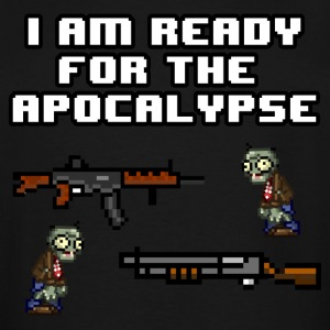 Ready For The Apocalypse 8-Bit - Men's Tall T-Shirt