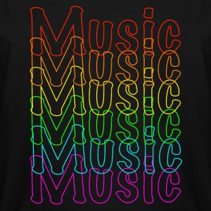 Neon Music - Men's Tall T-Shirt