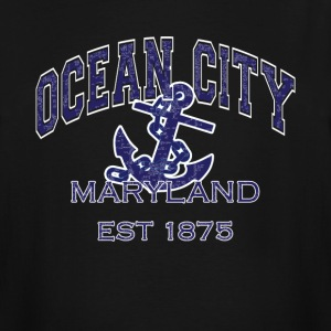 Ocean City Maryland Anchor - Men's Tall T-Shirt