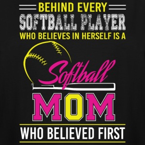 Believes In Herself Is A Softball Mom T Shirt - Men's Tall T-Shirt