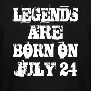 Legends are born on July 24 - Men's Tall T-Shirt