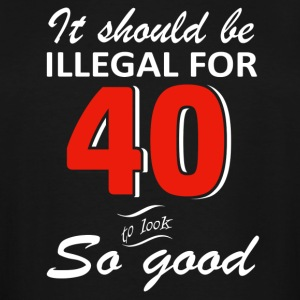 Funny 40th year old birthday designs - Men's Tall T-Shirt