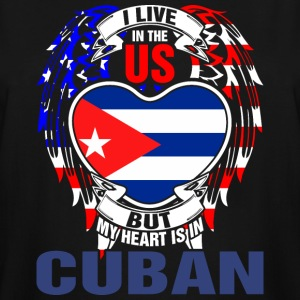 I Live In The Us But My Heart Is In Cuban - Men's Tall T-Shirt
