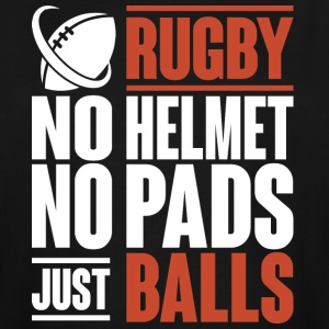 Rugby No Helmet No Pads Just Balls T Shirt - Men's Tall T-Shirt
