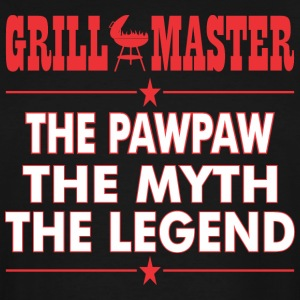 Grillmaster The Pawpaw The Myth The Legend BBQ - Men's Tall T-Shirt