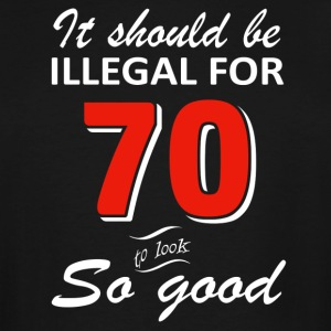 Funny 70th year old birthday designs - Men's Tall T-Shirt