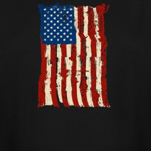 4th of July Independence Celebration American Flag - Men's Tall T-Shirt