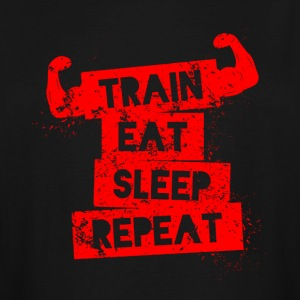 Train Eat Sleep Repeat T-shirt - Men's Tall T-Shirt