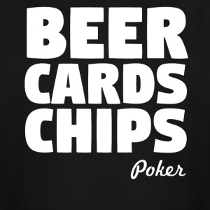 Beer Cards Chips Poker - Men's Tall T-Shirt