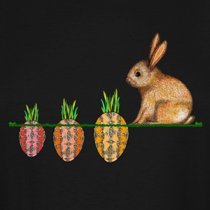 Happy Easter eggs Easter bunny waiting for carrots - Men's Tall T-Shirt