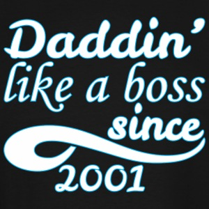 Daddin Like A Boss Since 2001 Happy Fathers Day - Men's Tall T-Shirt