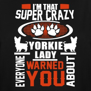 Crazy Yorkie Lady Shirts - Men's Tall T-Shirt