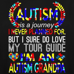 Autism Journey Never Planned Im An Autism Grandpa - Men's Tall T-Shirt