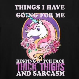 Unicorn Things I Have Going For Me Thick Thighs - Men's Tall T-Shirt
