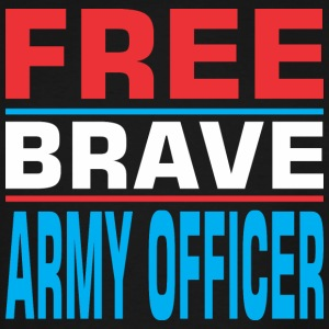 Free Brave Army Officer - Men's Tall T-Shirt
