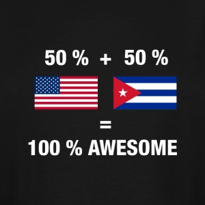 Cuban American Half Cuba Half America Flag - Men's Tall T-Shirt