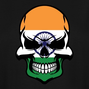 Indian Flag Skull Cool India Skull - Men's Tall T-Shirt
